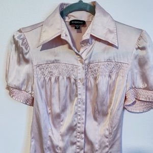 Baby pink blouse by BEBE